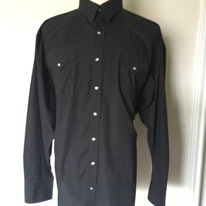 Other - Sheplers 18.5-37 T Black Western pearl snap Shirt